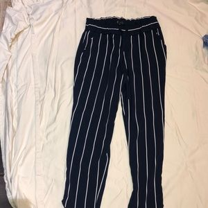 Navy Blue and White Pants